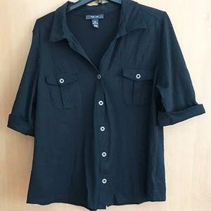 Style & Co black knit shirt
